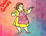 Dibujo Señora cocinera pintado por adrinette1