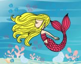 Dibujo Sirena flotando pintado por soreliz