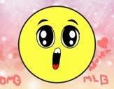 Dibujo Smiley sorpresa pintado por adrinette1
