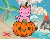 Un gatito de Halloween