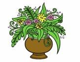 Dibujo Un jarrón con flores pintado por mendz