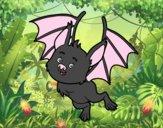Dibujo Un murciélago simpático pintado por Moi777