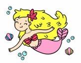 Dibujo Una sirena feliz pintado por soreliz