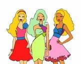Barbie y sus amigas vestidas de fiesta