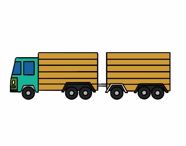 Dibujo de dibujo camion pintado por en Dibujos.net el día 24-01-18 a ...