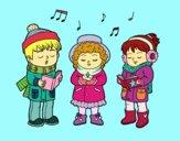 Cantantes navideños