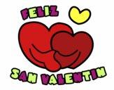 Dibujo Feliz San Valentin pintado por mendz