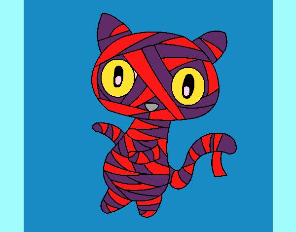 Gato garabato momia