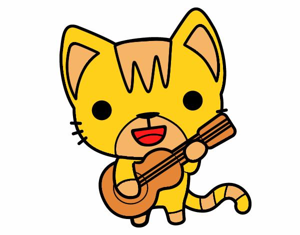 gatito gitarrista