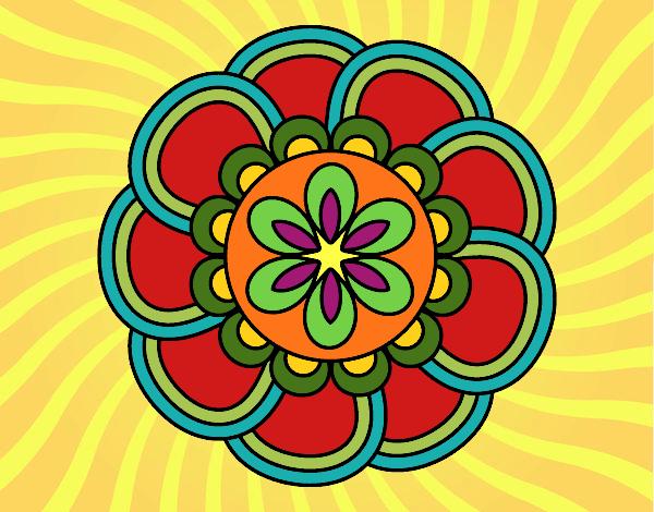 Dibujo Mandala de pétalos pintado por mendz