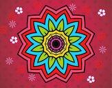 Mandala flor de girasol