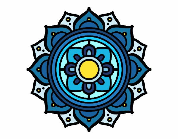Dibujo Mandala mosaico griego pintado por mendz