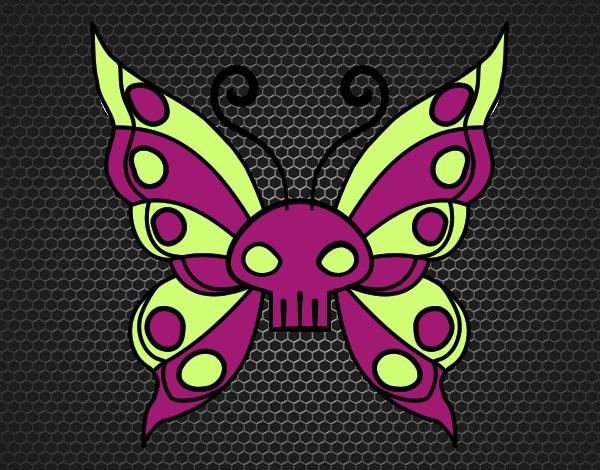 Dibujo Mariposa Emo pintado por mendz