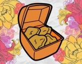 Dibujo Nuggets de pollo pintado por AbrilLOLXD