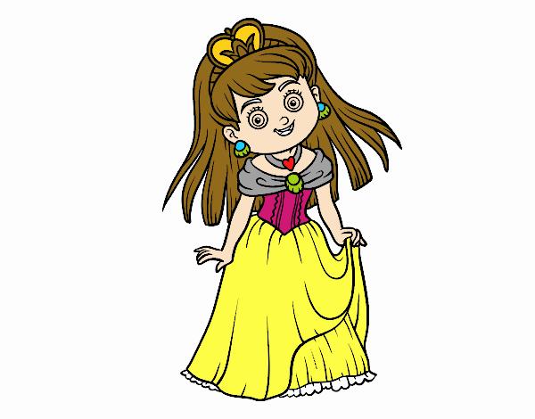 Dibujo Princesita encantadora pintado por Francesita