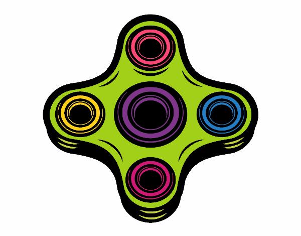Dibujo Spinner de 4 puntas pintado por mendz