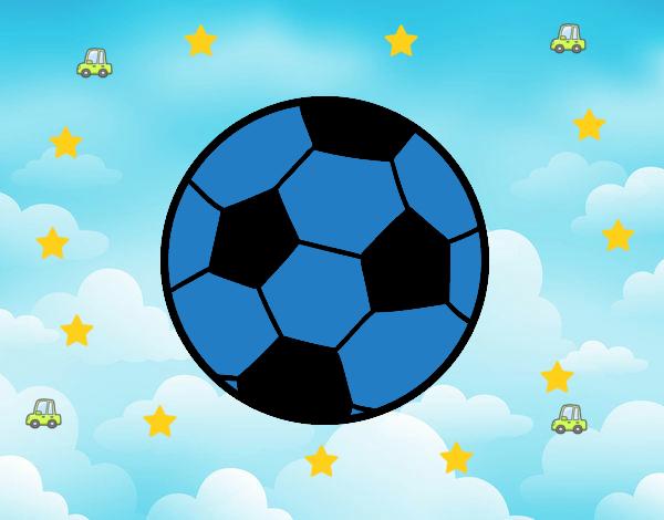Dibujo Una pelota de fútbol pintado por mendz