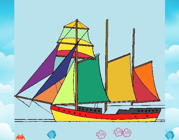 velero colorido