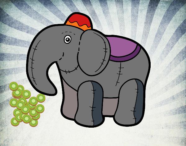 Dibujo Elefante de trapo pintado por mendz