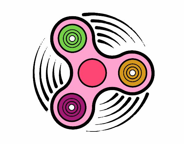 Dibujo Fidget spinner pintado por mendz