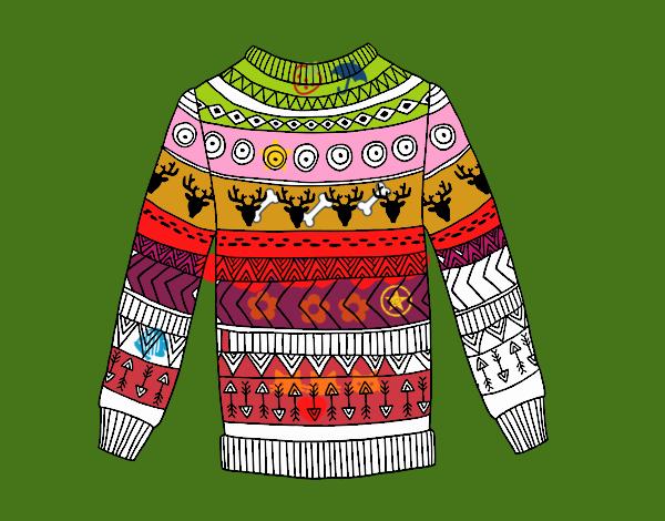 Dibujo Jersey de lana estampado pintado por popida