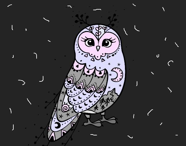 Dibujo Lechuza de invierno pintado por RikkaSofia