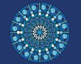 Mandala flor con círculos