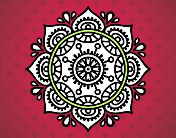 Dibujo Mandala para relajarse pintado por mendz