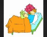 Paciente leyendo