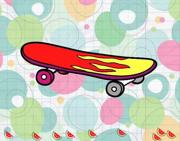 Dibujo Skate pintado por mendz