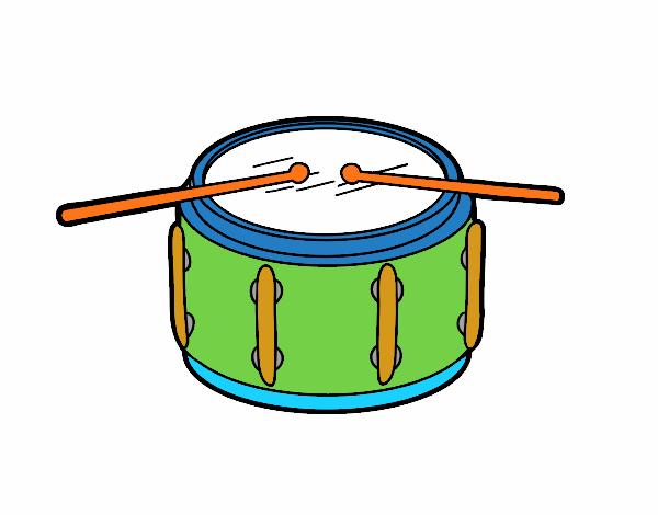 Dibujo Tambor de redoble pintado por mendz