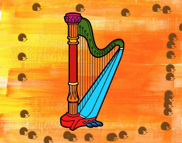 Dibujo Un arpa pintado por mendz