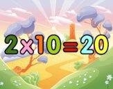 2 x 10
