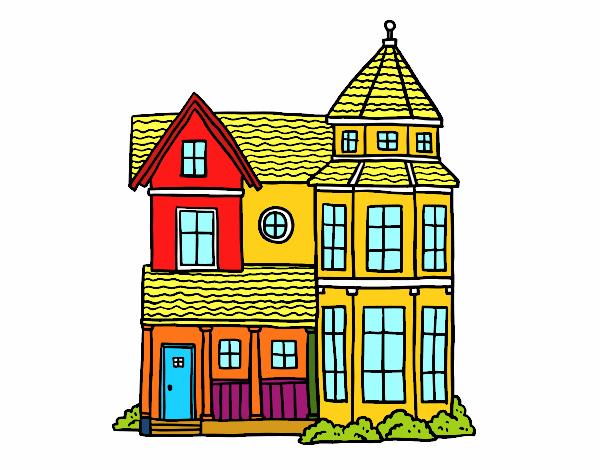 Dibujo Casa señorial clásica pintado por mendz