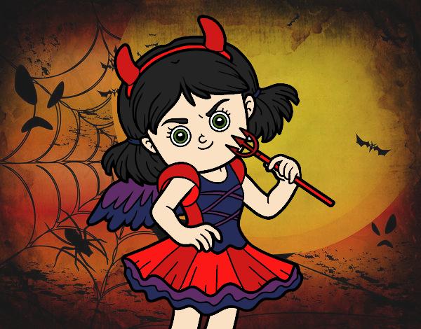 Dibujo Disfraz de diablesa pintado por MariamAmin