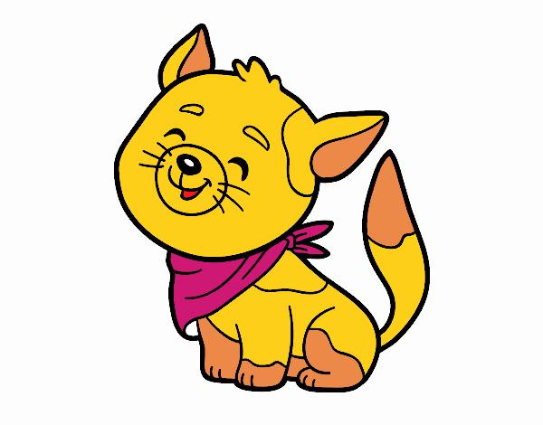 Dibujo Gato con bandana pintado por Kerstin