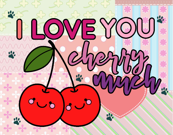 Dibujo I love you cherry much pintado por tigresalva