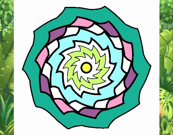 Dibujo Mandala 9 pintado por MariamAmin