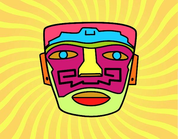 Máscara ancestral azteca