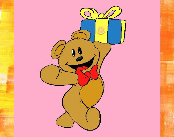 Osito con un regalo