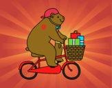 Dibujo Oso ciclista pintado por Dariabonit