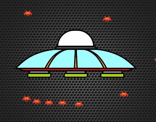 Dibujo Platillo volante alien pintado por mendz