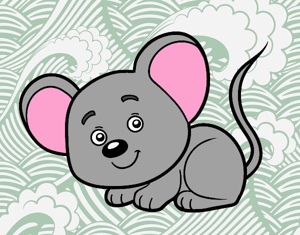 Dibujo Un ratoncito pintado por Davinchi