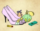 Zapatos y maquillaje