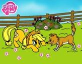 Applejack y Winona