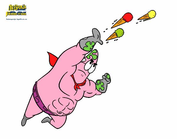 Dibujo Bob Esponja - Sr súper dúper disparando pintado por mendz