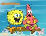 Bob Esponja y Patricio en bañador