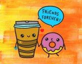 Dibujo Café y donut pintado por DanteLuqez