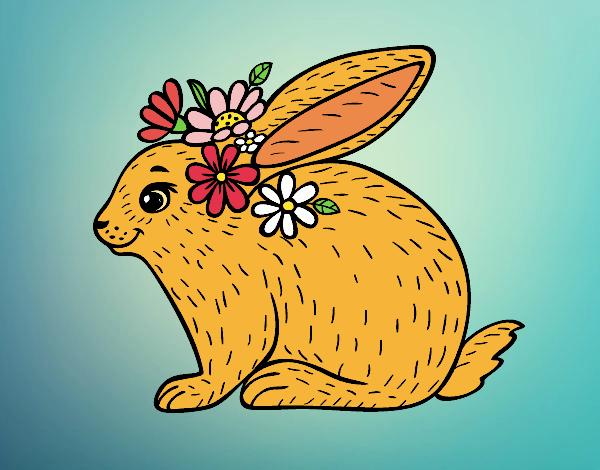 Dibujo Conejo primaveral pintado por RikkaSofia