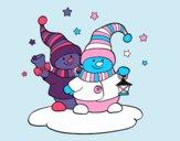 Dos muñecos de Navidad
